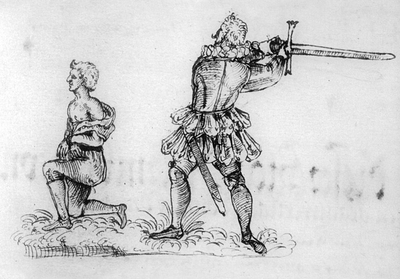 Franz Schmidt executing a man 1591, Wikimedia Commons