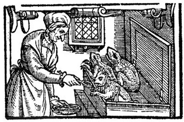 witch feeding familiars 1604
